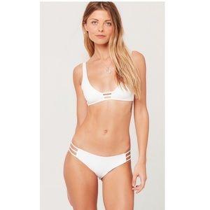L*Space Full Bikini Set in White.